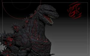 ShinGodzilla( face) by Gabe-TKE