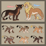 Lion Family adopt CLOSED by P4ndora-L