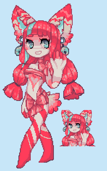 Pixel Kitty Girl Short Auction ~ finish by twin-tail