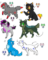Canine Point Adopts 1 .:THREE LEFT:. by SkylarCat