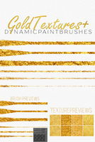 LUXE PS brushes+Gold Foil textures by ShekFilters