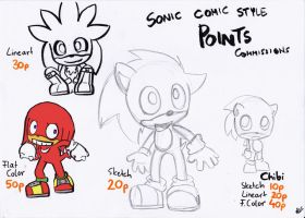 Sonic Comic Style Point Commissions by LeniProduction