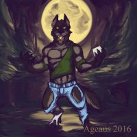 Patreonsketch: Moonlit Woods by Ageaus