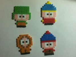 Perler Beads: South Park by hyper-evil-aly39