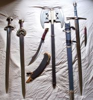 Weapons of Middle Earth pt 2 by phantomphreaq