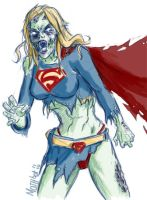Zombie Supergirl by mothbot