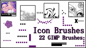 GIMP Icon Brushes by Illyera