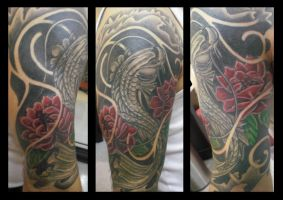 Koi Half Sleeve Updated by Shipht