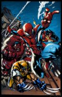 AVENGING SPIDER MAN by fredcomic