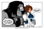 Lobo With Iria by mbaker