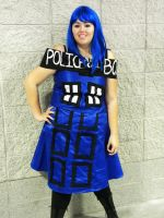 Tardis Costume by B10ndevamp