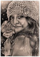 Winter's Rose by esTHer-duraes