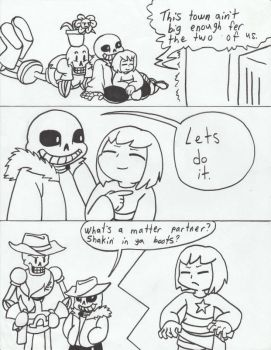 Undertale Wild West page 1 by twins6292