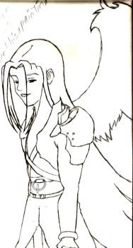 Sephiroth... unpainted by UmiLothien
