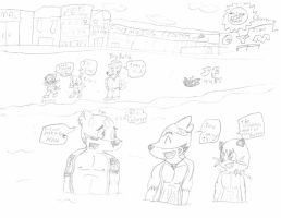 Fen Jolt and others at the beach~ by SonicFreak4455
