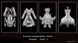 Fractal Stock- Dress Pack X by rockgem
