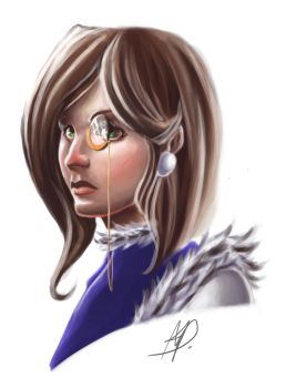 Character Bust - Nephilia by sequentialnerd