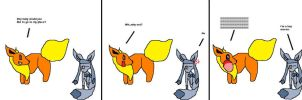 flareon and glaceon comic by luvuzzy