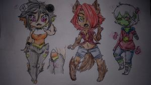 (Closed)Halloween Gals Adopts by Muffinz01