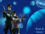 Claire and Leon by horrorfreakjuh