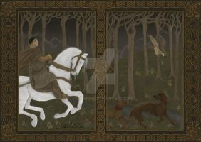Tapestry of Hunting Scenery by ValkAngie