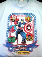 Captain America T-Shirt by Pabloramosart