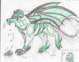 My Mythical Creature Colored by DrawingMaster1
