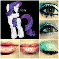 Rarity MLPFiM Inspired Make-UP by ChelseyNicole