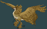 It's a flying raptor with hooves and unicorn tail? by FRivArts
