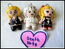 Death Note Chibis by ceciliaalovee