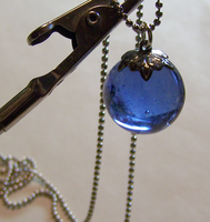Vintage Blue Orb Pendant by mymysticgems