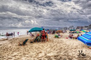Beach Clouds and pull up shorts by AbstractedRealism