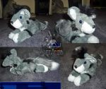 Angelwolf92 laying down plush commission by JamJams