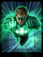 Green Lantern colors_vic55b by vic55b