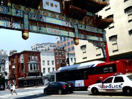 Police Are Cruisin Chinatown by Urceola