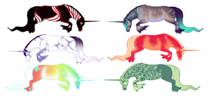 Unicorn Adoptables 01 by Astralseed