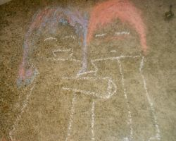 akatsuki chalk 2-sasori and I by Axellover16