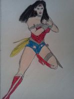 Wonder Woman post Flashpoint by dhbraley