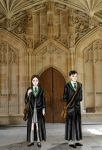 Slytherin students at Hogwarts_first year by BeatrixBonnie