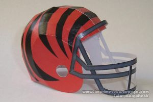 Bengals NFL Helmet Papercraft by Dil1880