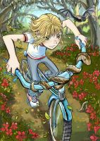 bike girl by lazesummerstone