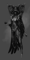 Collab - dark sorceress by Myrmirada