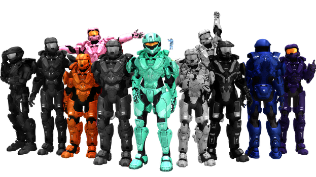 MMD+RVB: Blood Gulch Crew Part 1 by RandomDraggon