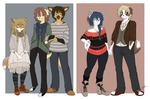 lookit these hipsters by thestoneycoyote