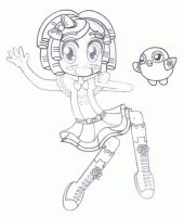 Lalaloopsy:  Dot Starlight Lineart by BakerChemi