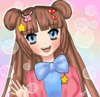 A lil Rainbow bubble gift for Sissy BunBun! by Tokyo-Dollie