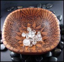 Manja - Wooden Offering Bowl by andromeda