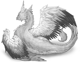Feathered Dragon by Mazeyelle