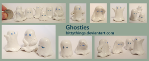Boo Ghosties - SOLD OUT by Bittythings