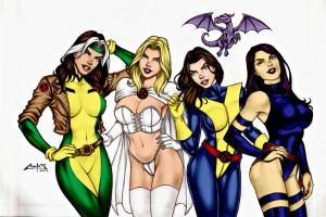 X  Girls By Carlosbragaart80 by Kenkira